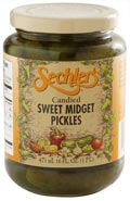 Candied Sweet Midget Pickles