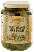Candied Orange Strip Pickles